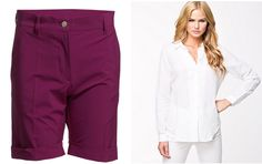 Trendy #bermudas with a simple white #shirt