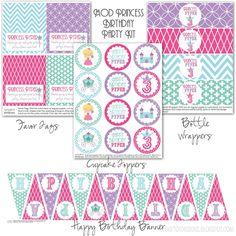 sugartotdesigns: ***Mod Princess Birthday Party Kit***
