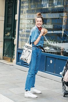 Summer Outfits, Casual Outfits, Cute Outfits, Denim Fashion, Fashion Outfits, Mode Inspiration, French Fashion, Jeans Style, Everyday Fashion