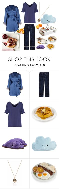 """""""Breakfast in bed"""" by fandom-girl365790 ❤ liked on Polyvore featuring La Perla, Gucci, DKNY, French Toast and NoJo"""