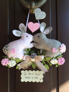 ♥ ~ ♥ Spring into Easter ♥ ~ ♥ Easter Crafts, Felt Crafts, Spring Crafts, Holiday Crafts, Happy Easter, Easter Bunny, Hobbies And Crafts, Diy And Crafts, Rabbit Crafts