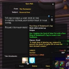 I really need to pay more attention...thanks Postmaster! #worldofwarcraft #blizzard #Hearthstone #wow #Warcraft #BlizzardCS #gaming