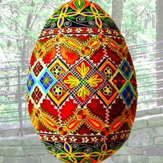 Ukrainian Pysanka Egg by Lorrie Popow. Pysanky at it's best.