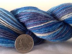 Stand By Me three ply self striping BFL wool yarn handspun 286 yards  on Etsy, $48.00
