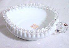Fenton - Silver Crest - Milk Glass - Heart Shaped Dish