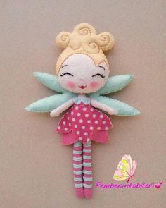 Felt Patterns, Stuffed Toys Patterns, Felt Kids, Felt Christmas Decorations, Felt Fairy, Felt Cat, Fairy Dolls, Felt Dolls, Felt Ornaments