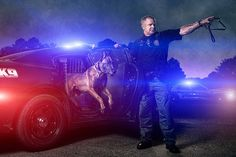 """In his series """"Not All Wear Capes,"""" Brandon Cawood creates epic movie poster-style images featuring police, firefighters, and first responders. His work aims to pay tribute to the men and women who risk their own lives to save the lives of others."""