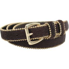 Brown Animal Print Plush Bead Trim Skinny Belt (59 PEN) ❤ liked on Polyvore featuring accessories, belts, brown, classic, thick brown belt, skinny brown belt, brown belt, thick belt and animal print belt