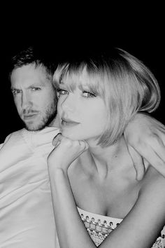 T-Swizzle (Taylor Swift) with first real man she's met since birth Calvin Harris. Keep on rockin'!! Love you both! (Crying my eyes out my girl T may have cheated!!!)