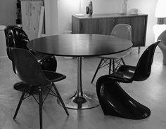 Table de repas Tulip, design Maurice Burke pour Arkana, c. 1960 Vevey, Burke, Maurice, Vintage Design, Dining Table, Furniture, Home Decor, Meal, Decoration Home
