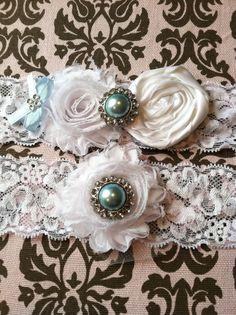 Ivory / white wedding garter / bridal  garter/  by whomadethatbow, $24.99