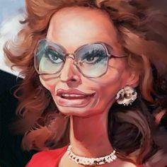 Sophia Loren. Caricature