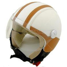Caschi Vintage Moto CV408   #hornhelmet #helmet #casco #personalizzato #custom #beige