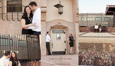down town Fullerton train station Amtrak, Engagement Photography, Gilmore Studios, Kiss, Love, Engagement, Couple