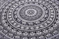 92x82 Indian Mandala Hippie Tapestry Queen Throw Wall Hanging Yoga Home Decor #Unbranded #IndianSouthAsian