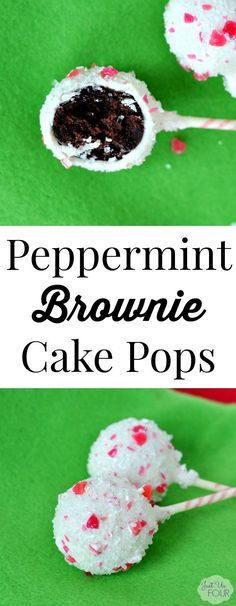 Peppermint Brownie Cake Pops for the family and friend get togethers and parties. Yummy dessert for the holiday parties!