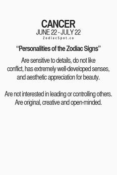 Personality of Cancers - Yes to not being interested in leading. People claim I'm a leader, nope no thank you.