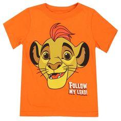 Disney Lion Guard Follow The Leader Orange Toddler Boys Shirt Free Shipping #HTownKids