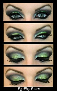 Maquillaje green eye shadow