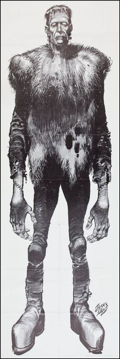 Frankenstein poster, 1972. Art by Jack Davis.