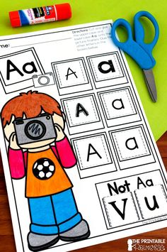 "It's a great idea to constantly expose students to letters in various shapes, sizes, and fonts. Using lots of environmental print or an activity such as ""Light, Camera, Letters"" helps students recognize letters in the world around them!"