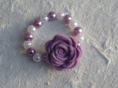 Baby flower bracelet - felt flower bracelet - baby jewelry - photo prop on Etsy, $5.95