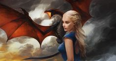 """No one will take my dragons."" -Daenerys Targaryen Fan Art feature Artworkby linxz2010"