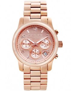 Michael Kors Watch Rose Gold...just got this for Christmas! I looove it <3
