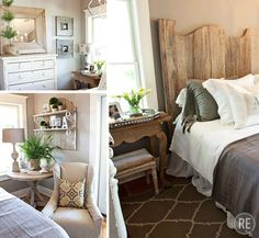 Bungalow bedroom. View the full Inspiration story here: http://www.restylesource.com/inspiration/Home-Design/Bedrooms/Bungalow-Bedroom/75/