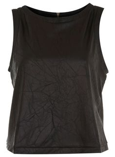 Black PU Tee - View All - Going Out - Miss Selfridge - StyleSays