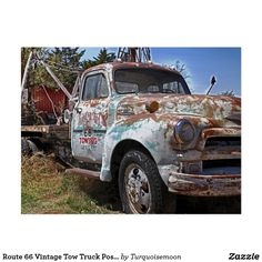 Route 66 Vintage Tow Truck Postcard