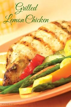 Grilled Lemon Chicken | FOODIEaholic.com #recipe #cooking #grill #chicken #lemon