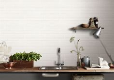 Riverstone White Wall Tile from Tile Mountain only per tile or per sqm. Order a free cut sample, dispatched today - receive your tiles tomorrow White Wall Tiles, Wall And Floor Tiles, White Walls, Kitchen Worktop, Kitchen Tiles, Work Surface, Surface Design, Brick Style Tiles, Bath Surround