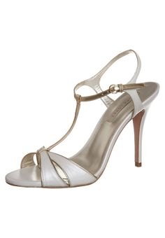 Pura Lopez - High Heel Sandalette - white/gold