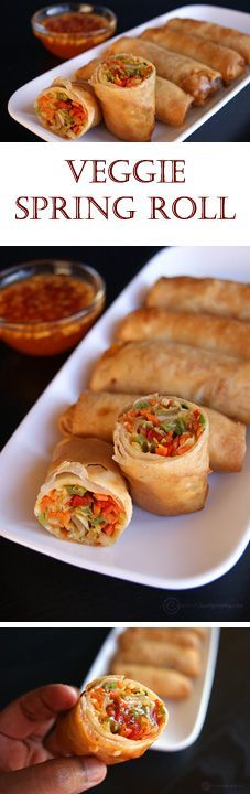 A wonderful appetizer from the Asian cuisine with lots of veggie goodness. Crispy on the outside and juicy on the inside.