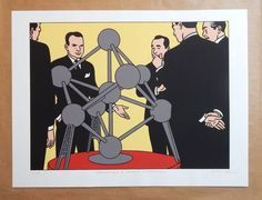 Floc'h - Sérigraphie Champaka - Atomium - Hommage à André Waterkeyn - (2008) - W.B.