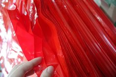 Medical Waste Plastic Bag with draw-string and stopper U11013-R (Large) Bulk #U1Industries