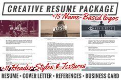 Creative Resume Package + Extras by jonlehman on Creative Market