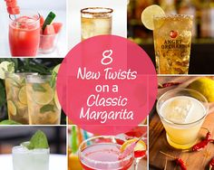 Tequila, lime, orange liqueur, and salt. That's all you need for a classic margarita. Add a few more ingredients, though (or swap out a few staples), and your taste buds will have their own fiesta. #margaritas #recipes #cincodemayo