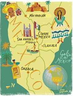 Nik Neves - Map of Mexico for Map Angeloni Magazine