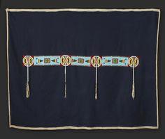 A Crow beaded blanket strip