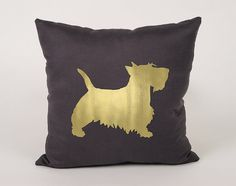 Scottish terrier Cotton throw Pillow Cover  16x16 18x18 by Daneeyo