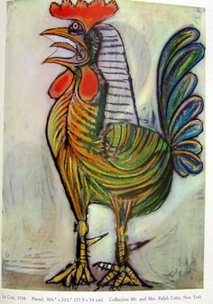 """Picasso Rooster """"Le Coq"""" (Pastel)"""
