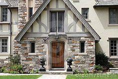 tudor style homes | Tudor Style House Entrance Royalty Free Stock Photography - Image ...