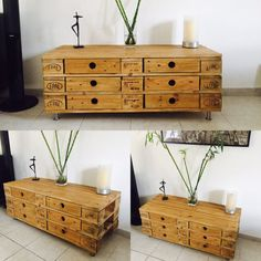 Meuble commode palette bois Europe Diy Pallet Projects, Buffet, Cabinet, Storage, Pallets, Furniture Ideas, Etsy, Europe, Upcycling