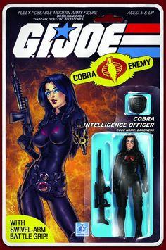 IDW - G.I. Joe: RAH #216 - Baroness Action Figure Variant by Elias Chatzoudis