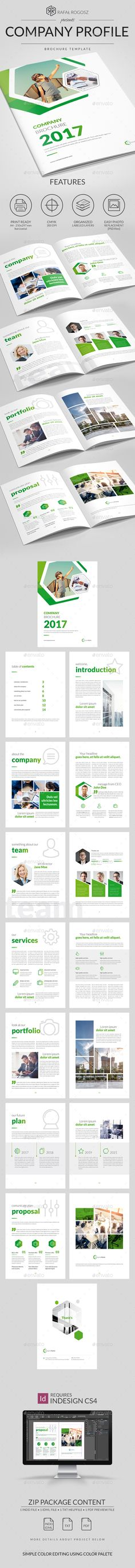 Company Profile Template InDesign INDD Inspire for work - corporate profile template