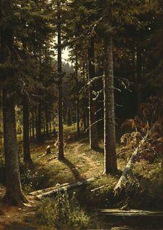 Лесной пейзаж1889-1890 51. 2х36. Иван Иванович Шишкин