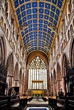 inside Carlise Cathedral.  Located in  Carlisle, Cumbria, England, UK