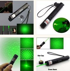 ●5 X lens covers,5 lens caps are included and when used with this laser, they can be rotated to give different animated star effects. ●Adjustable Focus, Pinpoint your accuracy to increase the ability to burn. ●Can be used to light a cigarette, cut the paper even plastic into pieces, shoot the bird, engraving plastic and more. ●The heat-resistant lens and reflector will channel the intense light into a wide floodlight or searchlight.